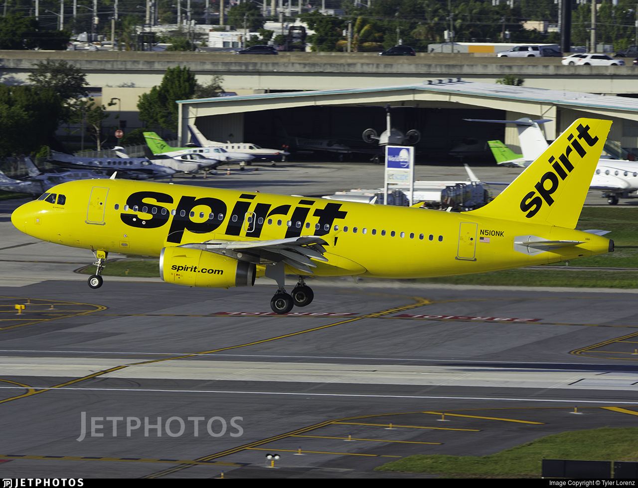 N510NK - Airbus A319-132 - Spirit Airlines