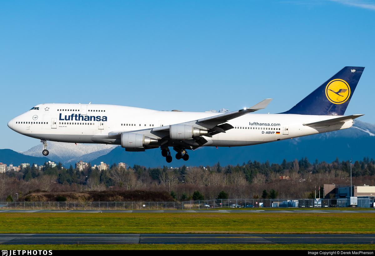 D-ABVP - Boeing 747-430 - Lufthansa