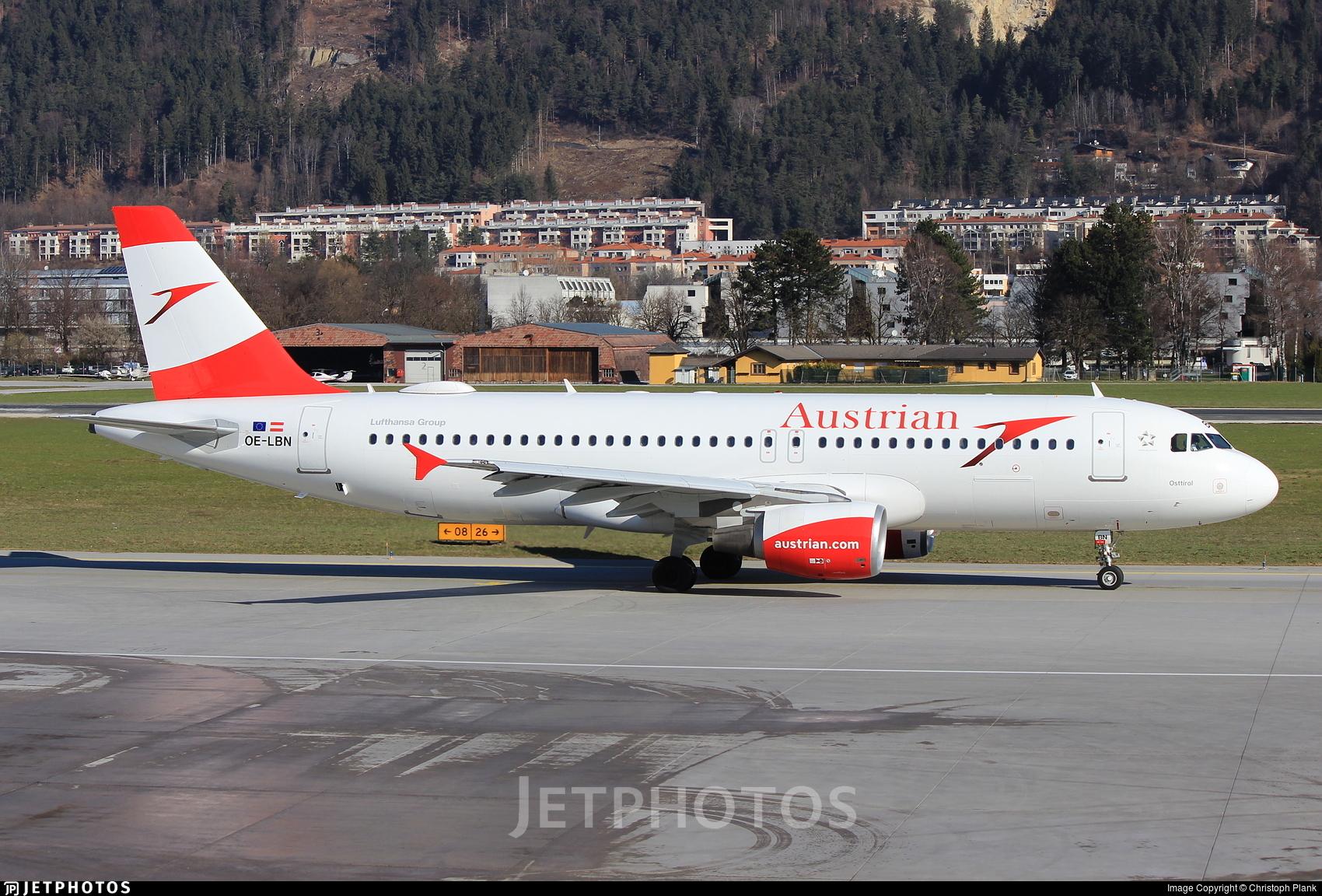 OE-LBN - Airbus A320-214 - Austrian Airlines