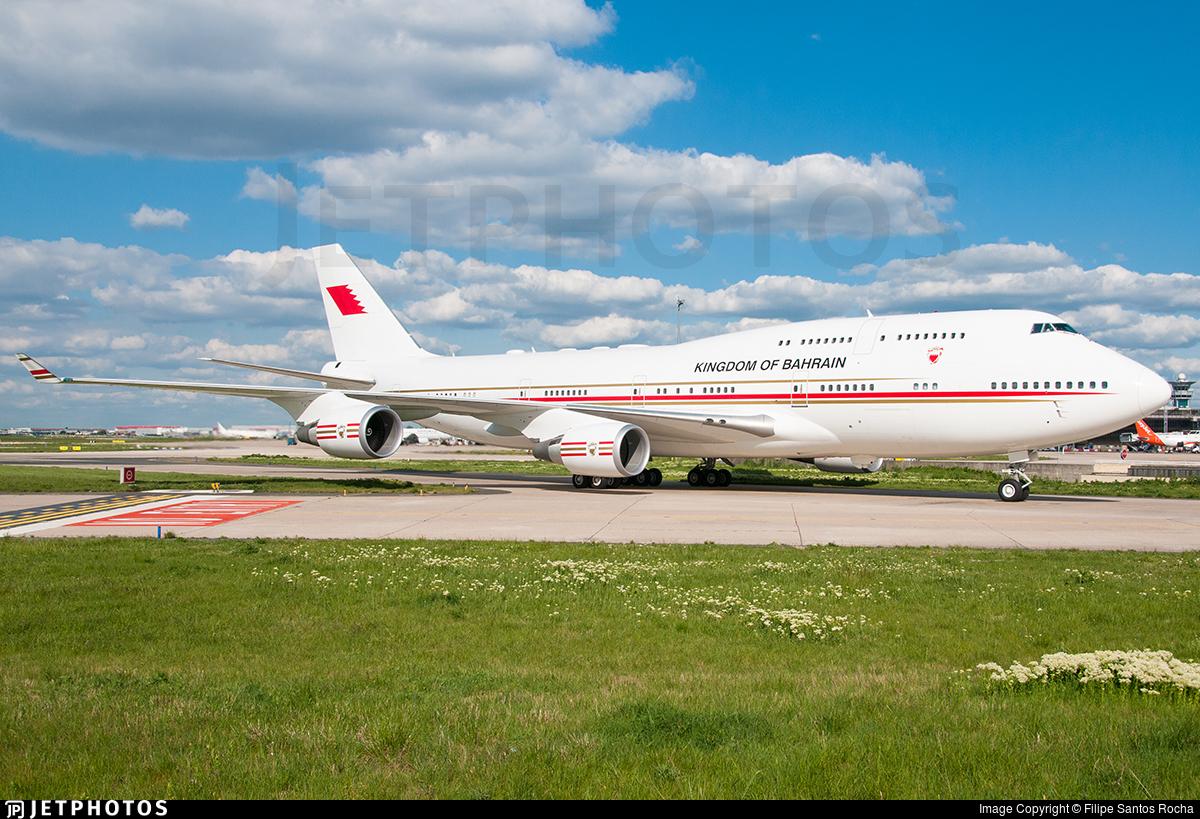 A9C-HMK - Boeing 747-4P8 - Bahrain - Royal Flight
