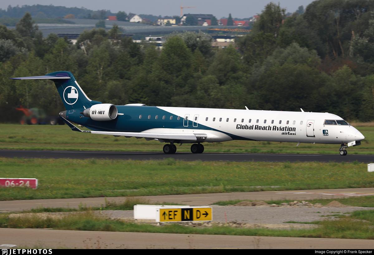 OY-MIT - Bombardier CRJ-900LR - Global Reach Aviation (Copenhagen Air Taxi (CAT))