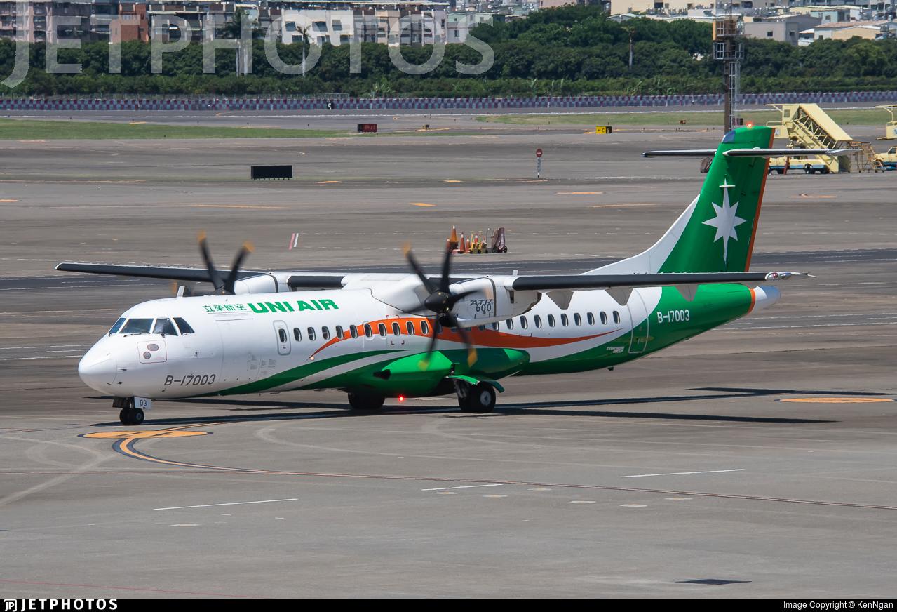 B-17003 - ATR 72-212A(600) - Uni Air