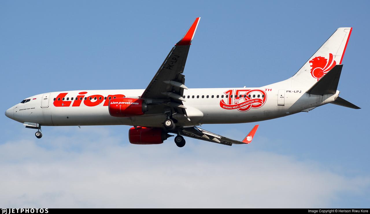 PK-LPJ - Boeing 737-8GP - Lion Air