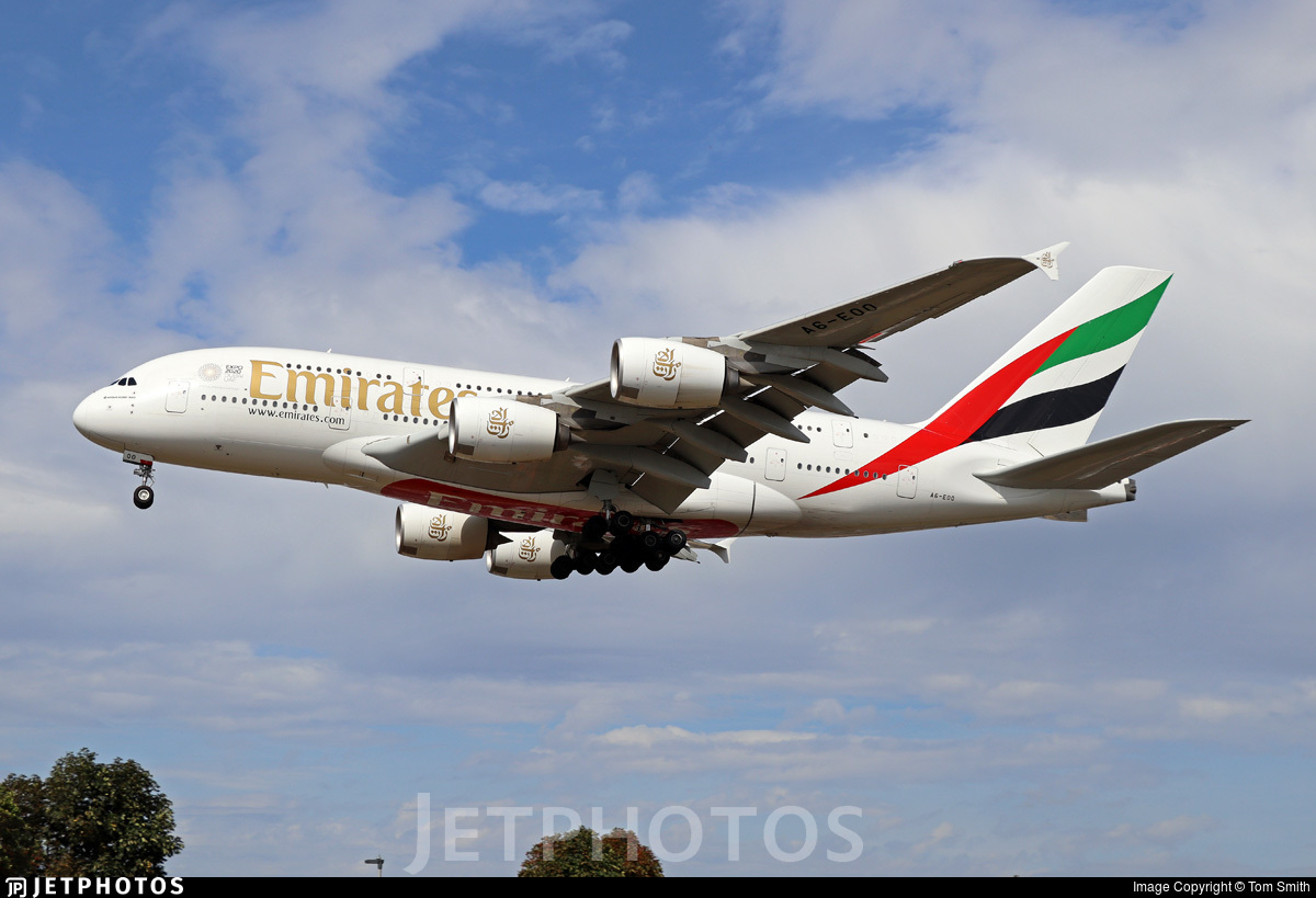 A6-EOO - Airbus A380-861 - Emirates