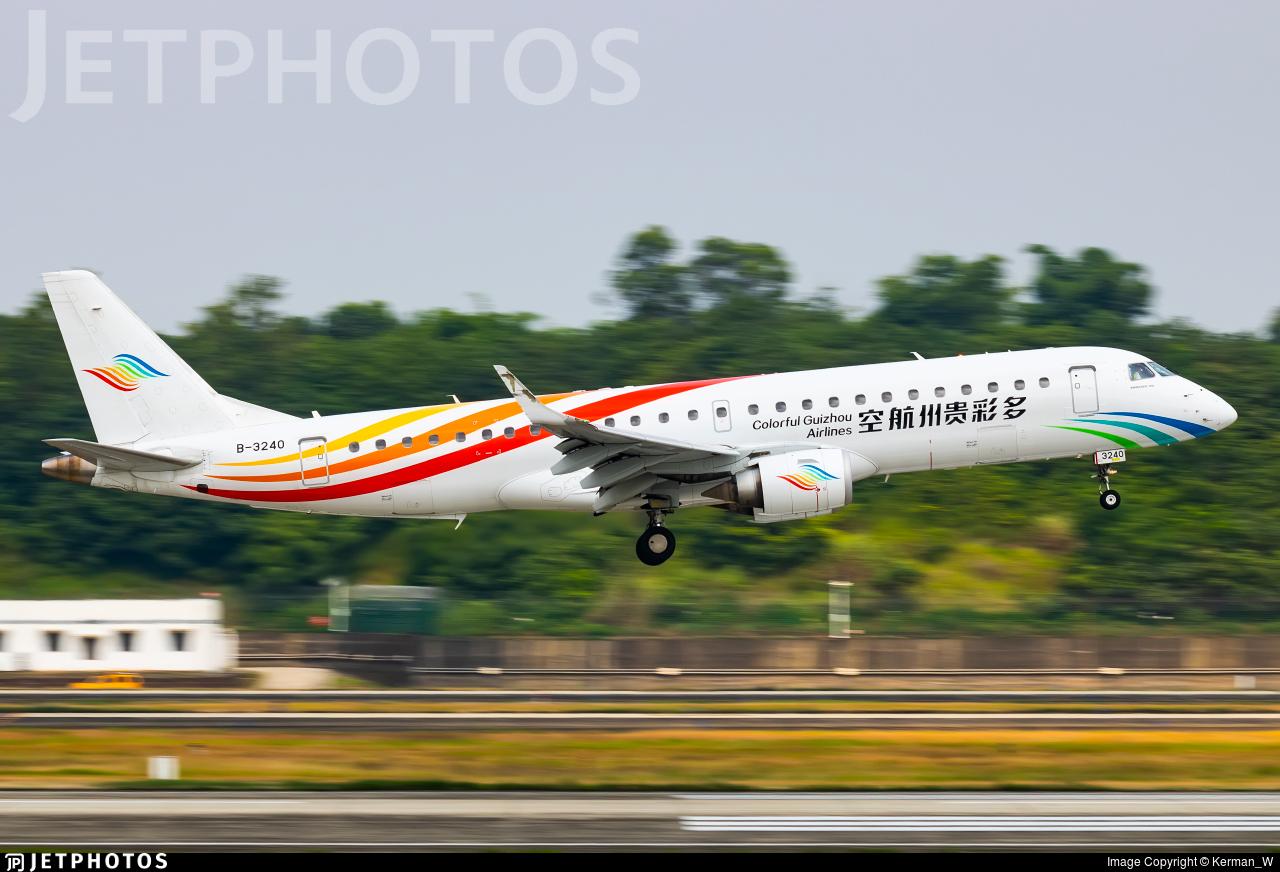 B-3240 - Embraer 190-100LR - Colorful Guizhou Airlines