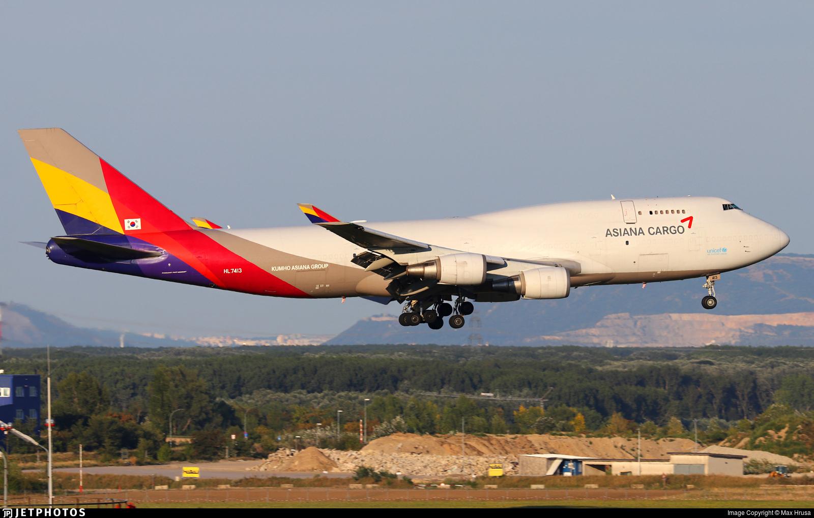 HL7413 | Boeing 747-48E(BDSF) | Asiana Cargo | Max Hrusa ...