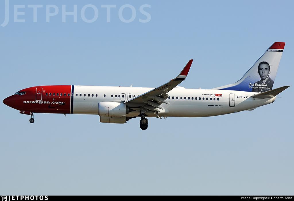 EI-FVZ - Boeing 737-8JP - Norwegian