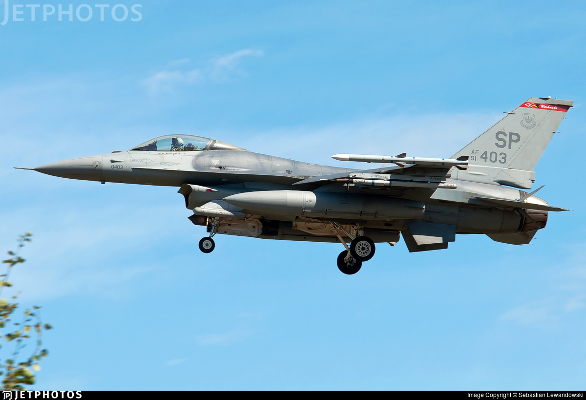 91-0403 - General Dynamics F-16C Fighting Falcon - United States - US Air Force (USAF)