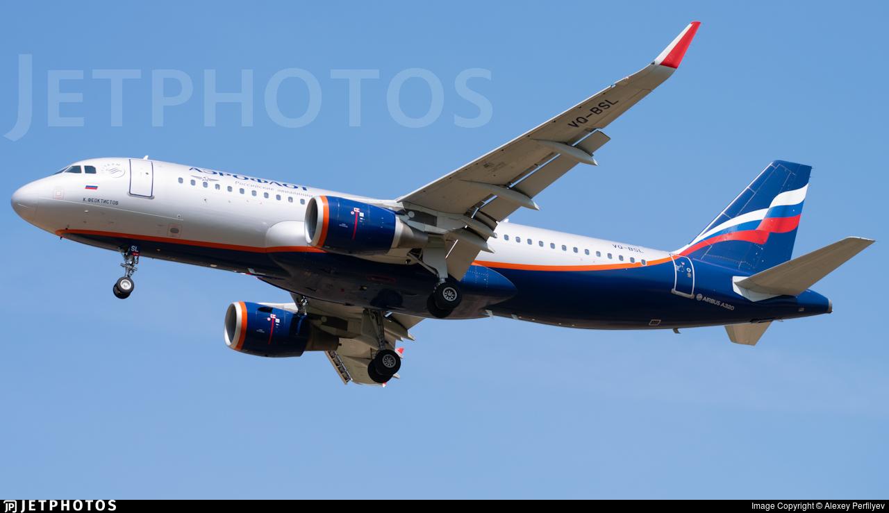 VQ-BSL - Airbus A320-214 - Aeroflot