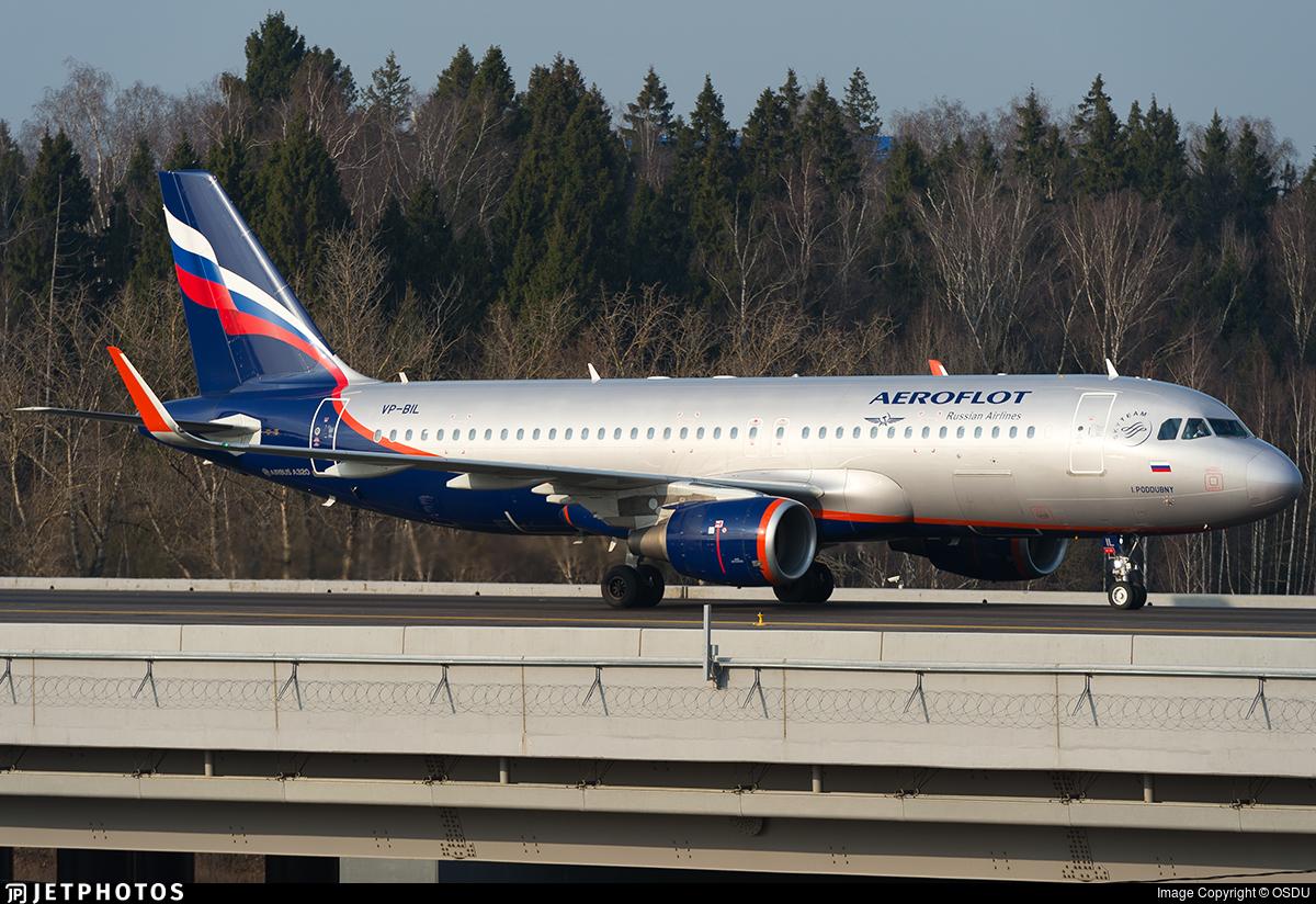 VP-BIL - Airbus A320-214 - Aeroflot
