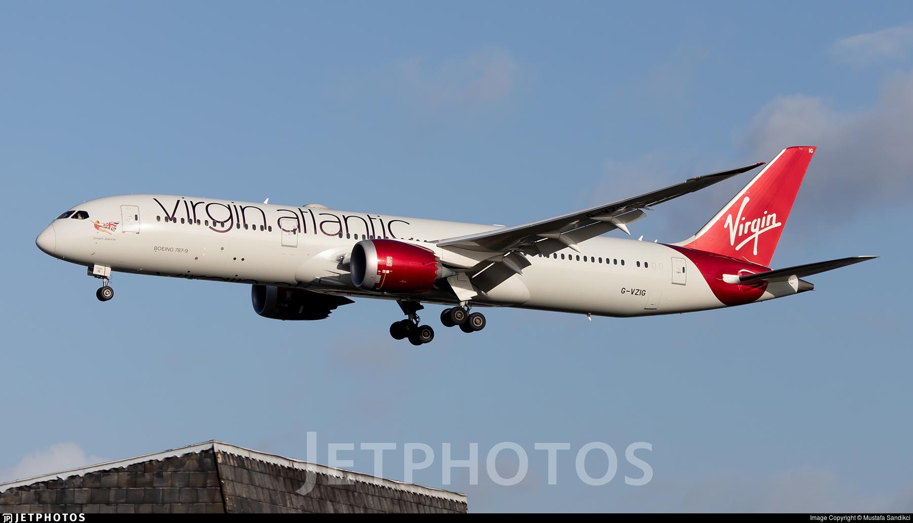 G-VZIG - Boeing 787-9 Dreamliner - Virgin Atlantic Airways
