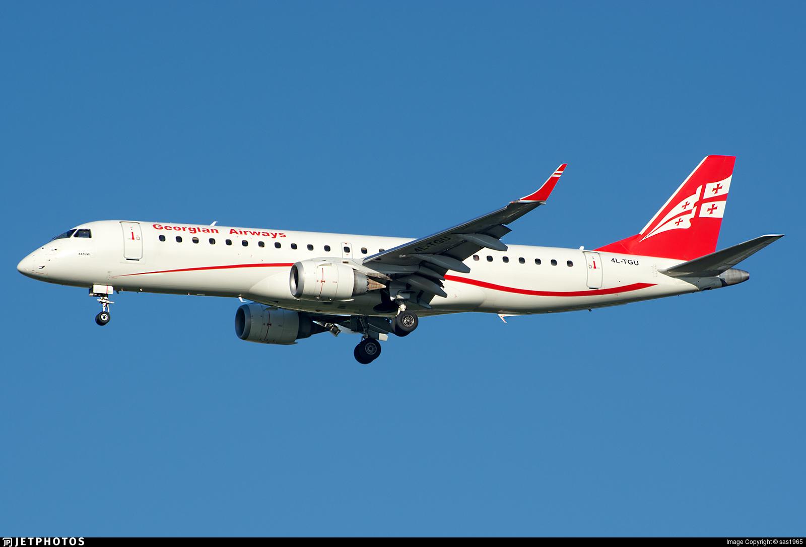 4L-TGU - Embraer 190-100IGW - Georgian Airways