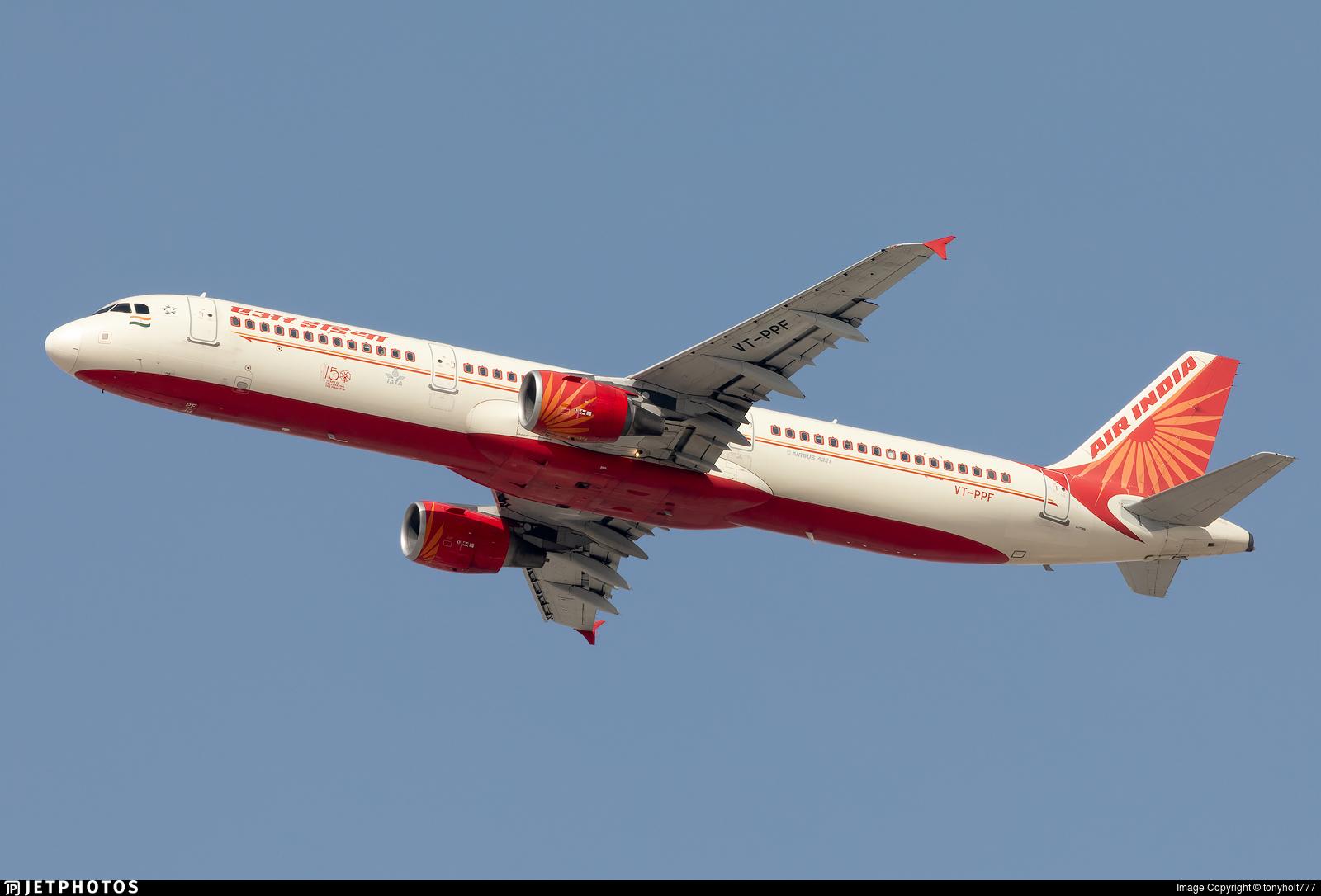 VT-PPF - Airbus A321-211 - Air India