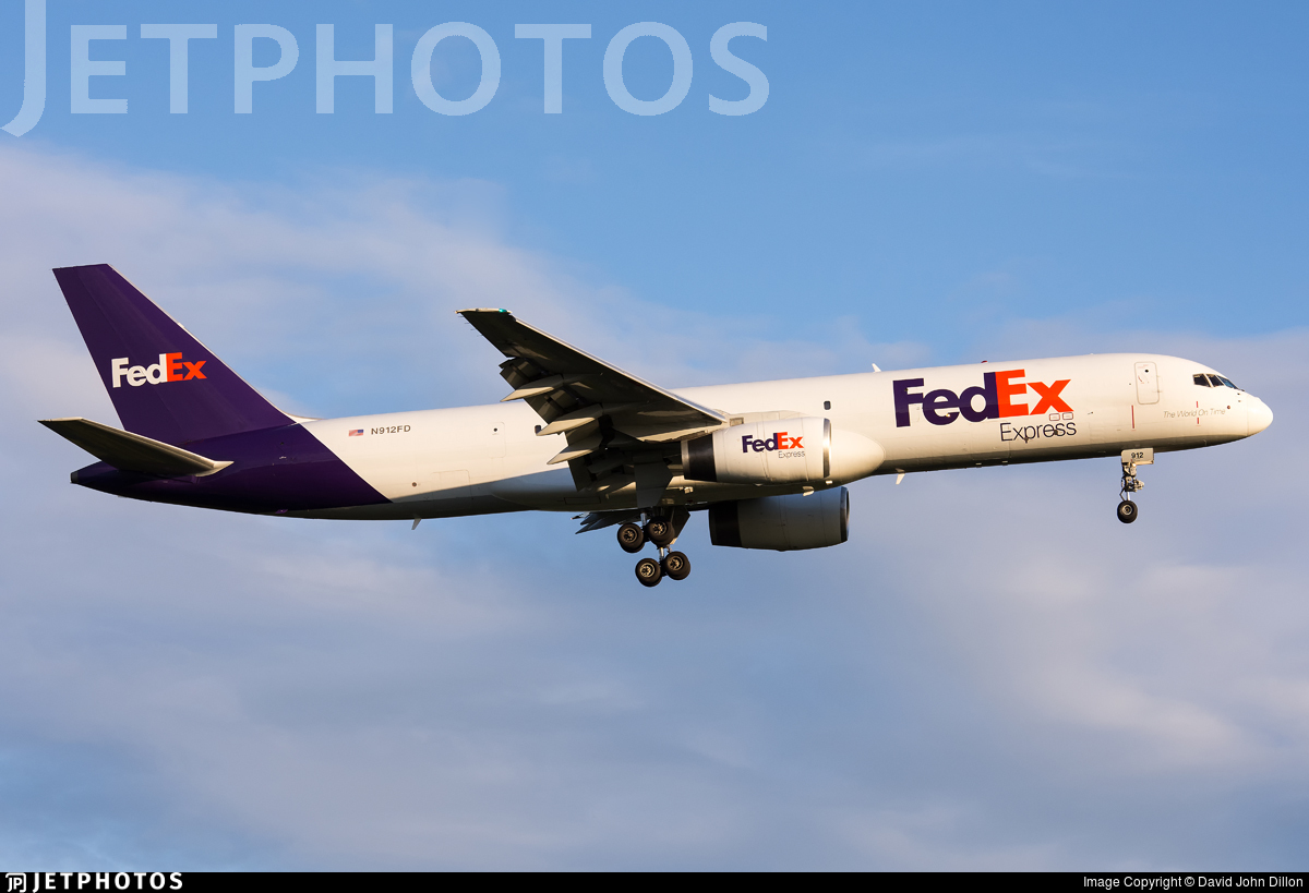 N912FD - Boeing 757-28A(SF) - FedEx