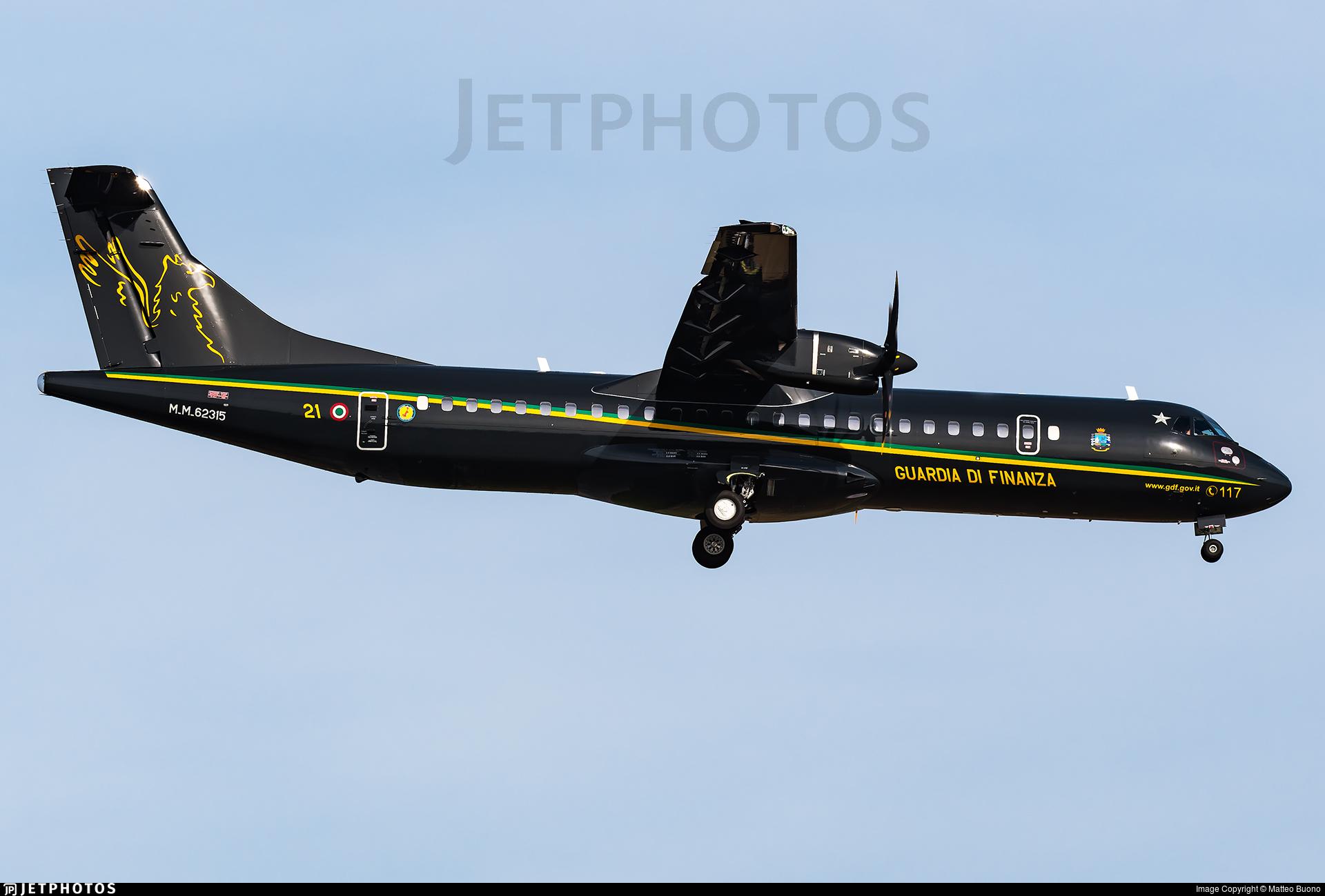 MM62315 - ATR 72-212A(600MP) - Italy - Guardia di Finanza