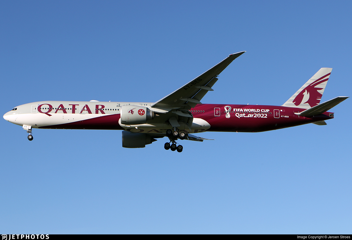 A7-BEB - Boeing 777-3DZER - Qatar Airways