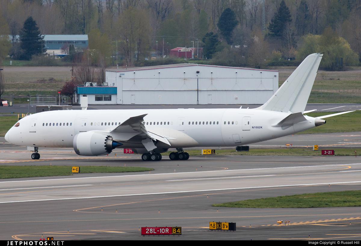 N1002K - Boeing 787-8 Dreamliner - Boeing Company