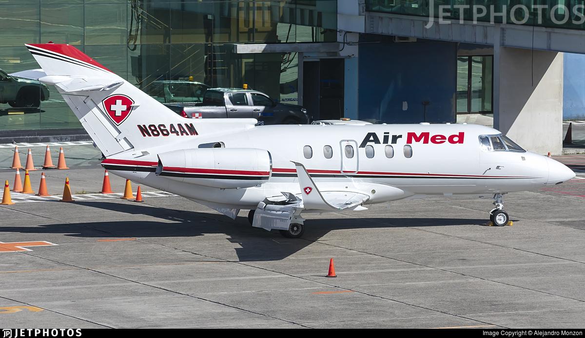 N864AM - Raytheon Hawker 800XP - Air Med