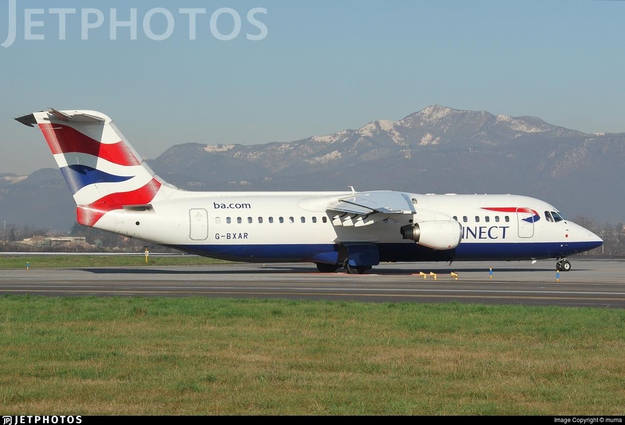 G-BXAR - British Aerospace Avro RJ100 - BA Connect