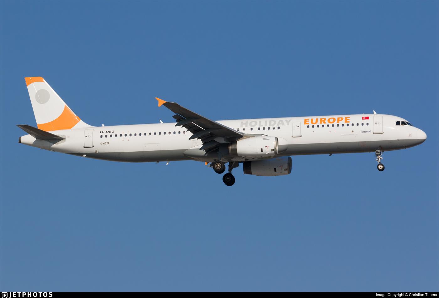 TC-OBZ - Airbus A321-231 - Holiday Europe (Onur Air)