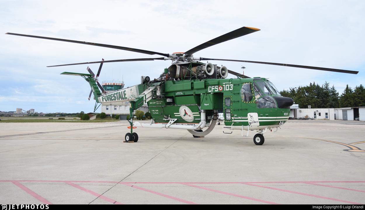 I-CFAJ - Sikorsky S-64F Skycrane - Italy - Vigili del Fuoco