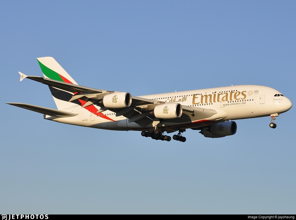 A6-EEG - Airbus A380-861 - Emirates