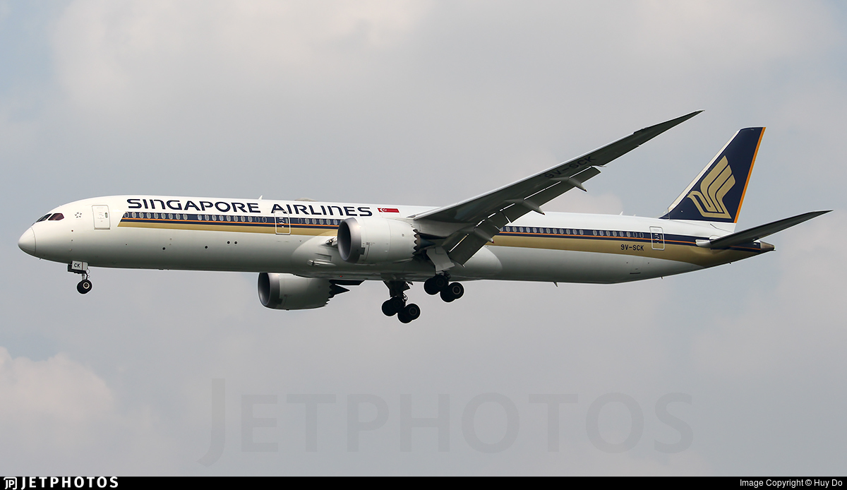 9V-SCK - Boeing 787-10 Dreamliner - Singapore Airlines