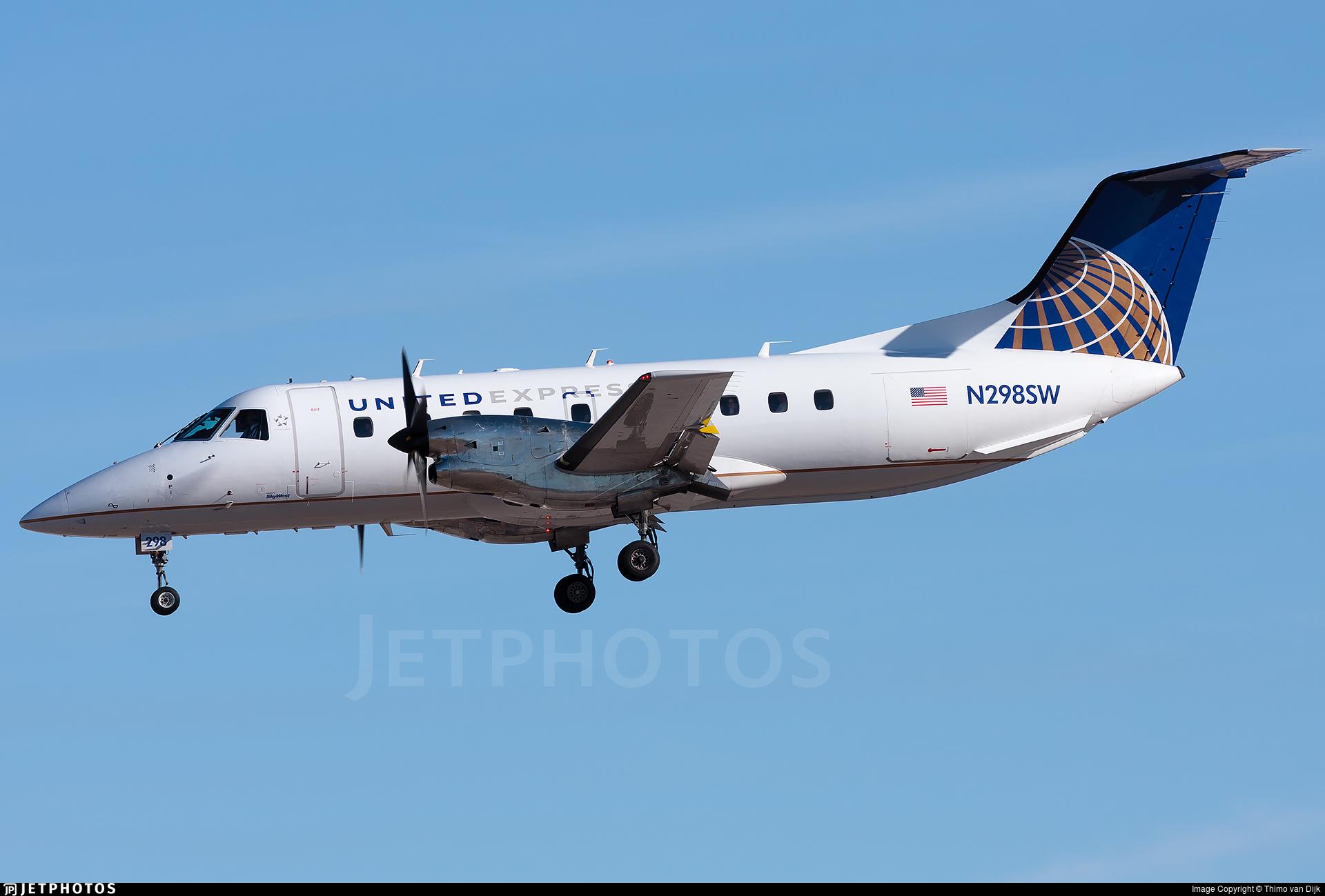 N298SW - Embraer EMB-120ER Brasília - United Express (SkyWest Airlines)