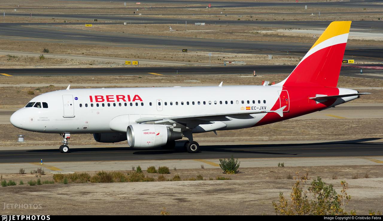 EC-JXV - Airbus A319-111 - Iberia