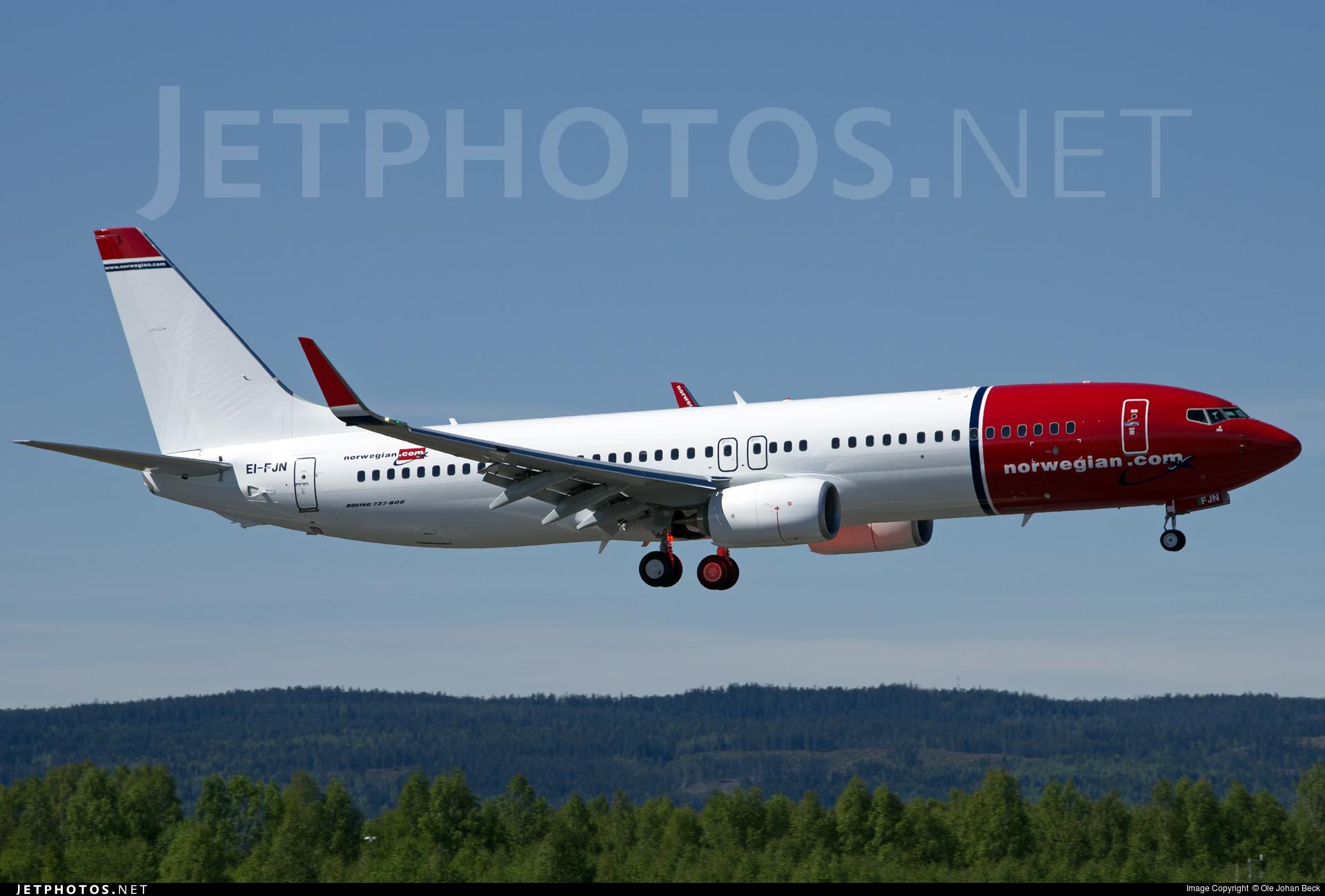 EI-FJN - Boeing 737-8JP - Norwegian