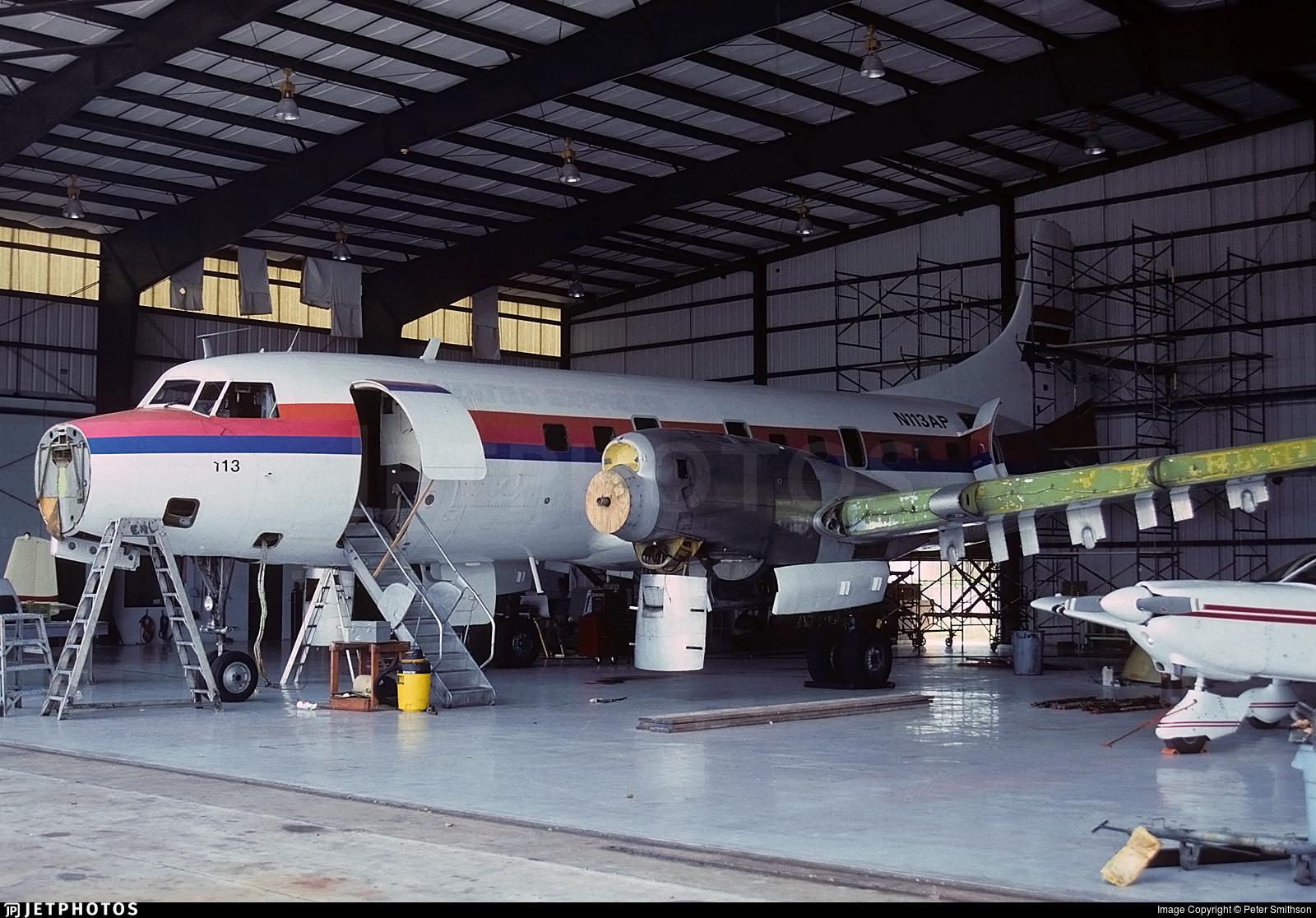 N113AP - Convair CV-580 - United Express (Aspen Airways)