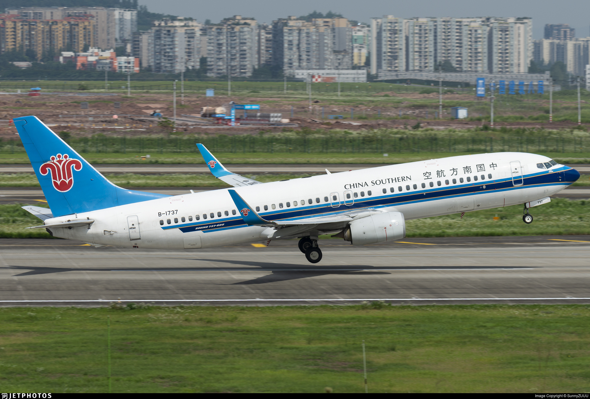 B-1737 - Boeing 737-81B - China Southern Airlines