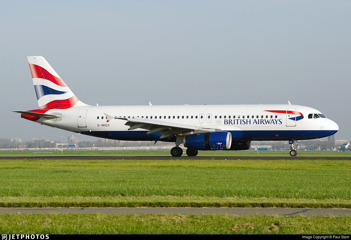 G-MIDX - Airbus A320-232 - British Airways
