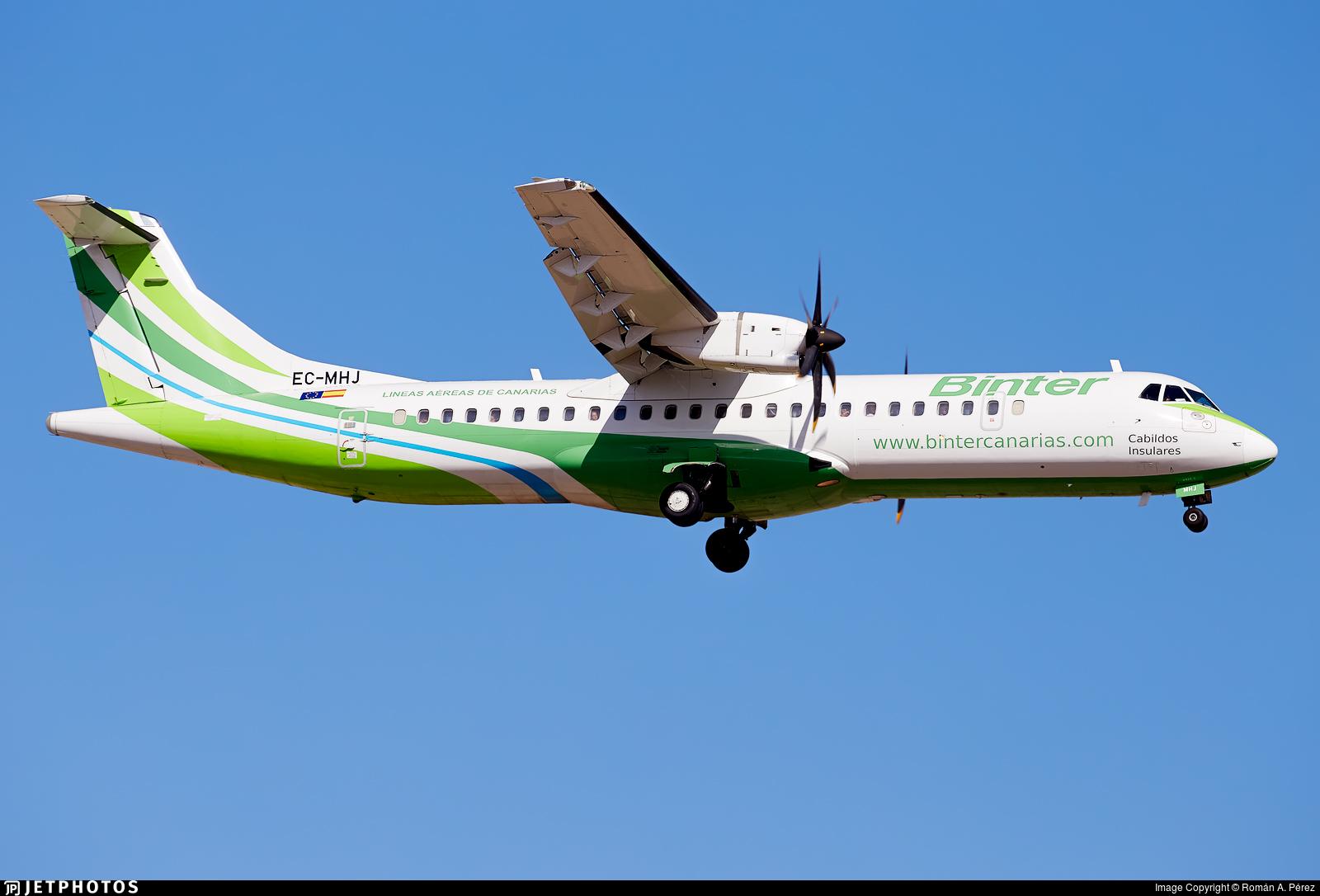 EC-MHJ - ATR 72-212A(500) - Binter Canarias (Naysa)