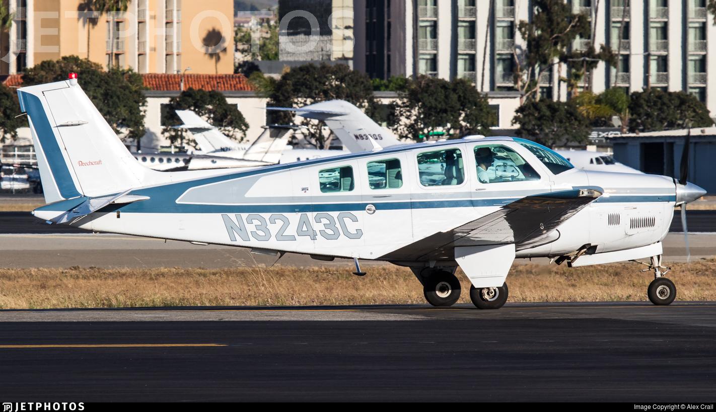 N3243C - Beechcraft B36TC Bonanza - Private