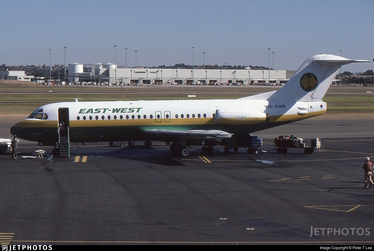 VH-EWA | Fokker F28-4000 Fellowship | East West Airlines ...