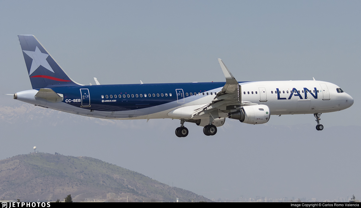 CC-BEB - Airbus A321-211 - LAN Airlines