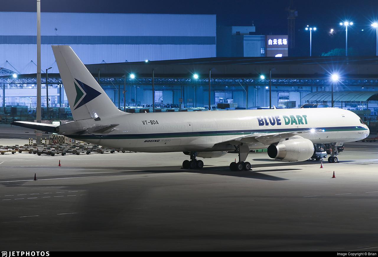VT-BDA - Boeing 757-25F(PCF) - Blue Dart Aviation