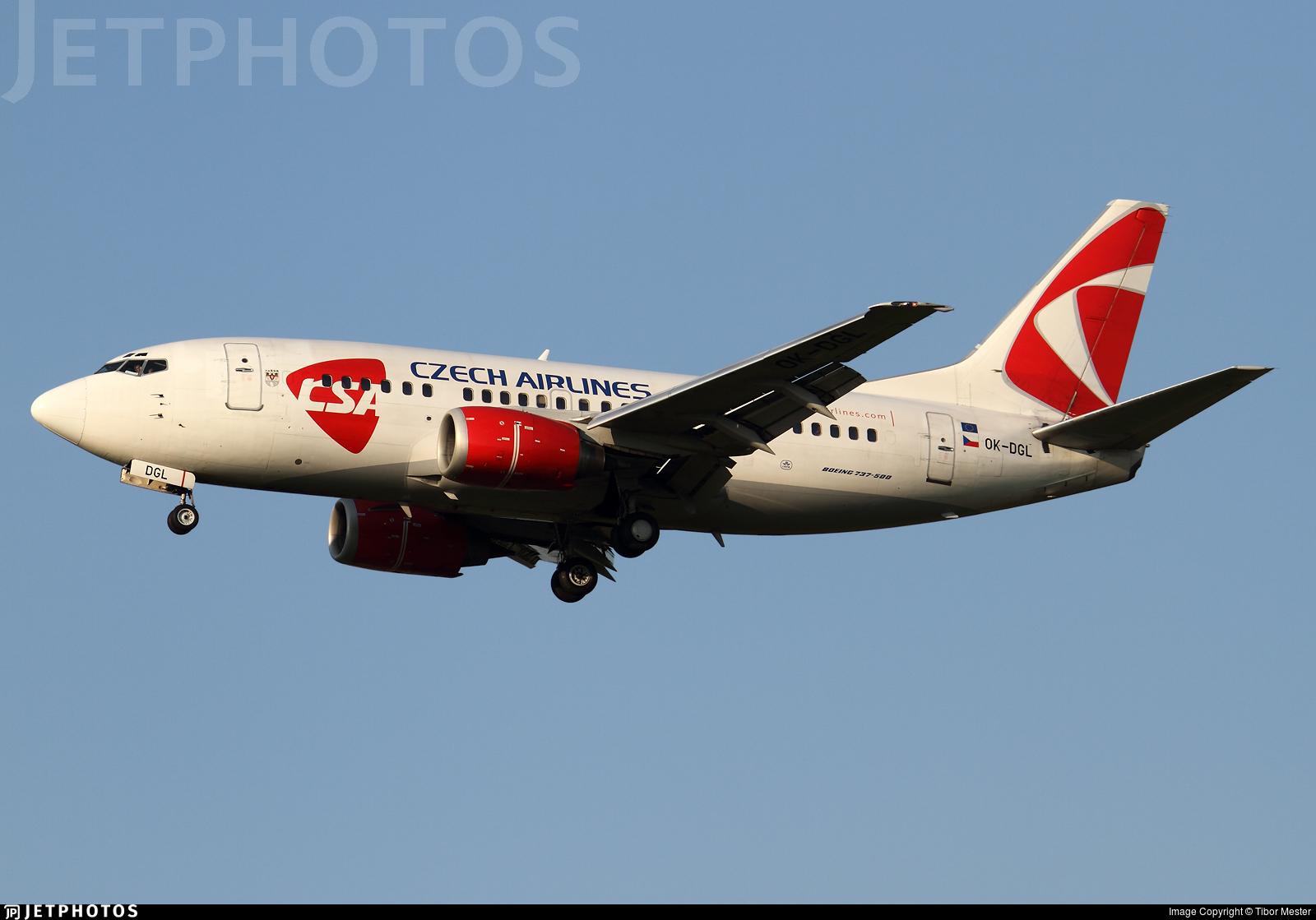 OK-DGL - Boeing 737-55S - CSA Czech Airlines