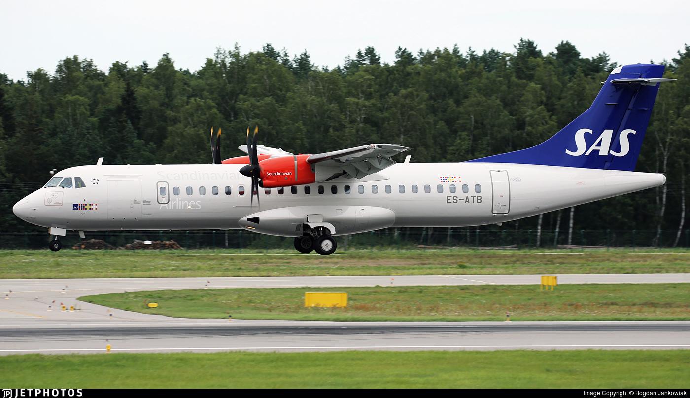 ES-ATB - ATR 72-212A(600) - Scandinavian Airlines (Regional Jet)