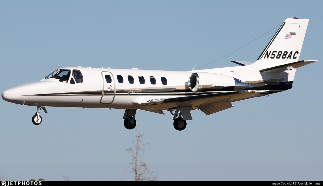N588AC - Cessna 550B Citation Bravo - Private