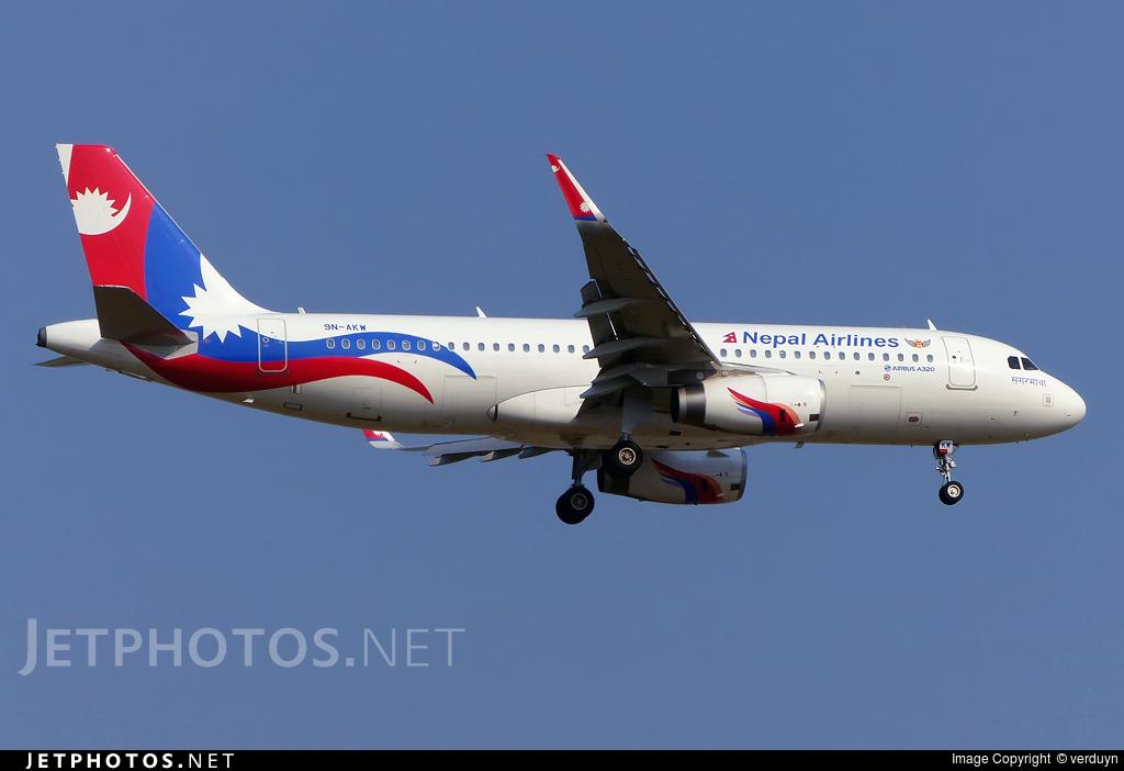 9N-AKW - Airbus A320-233 - Nepal Airlines