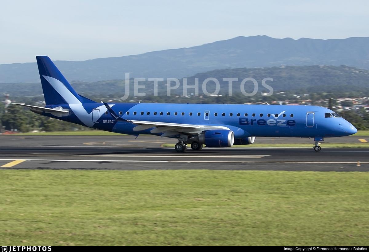 N114BZ - Embraer 190-100IGW - Breeze Airways