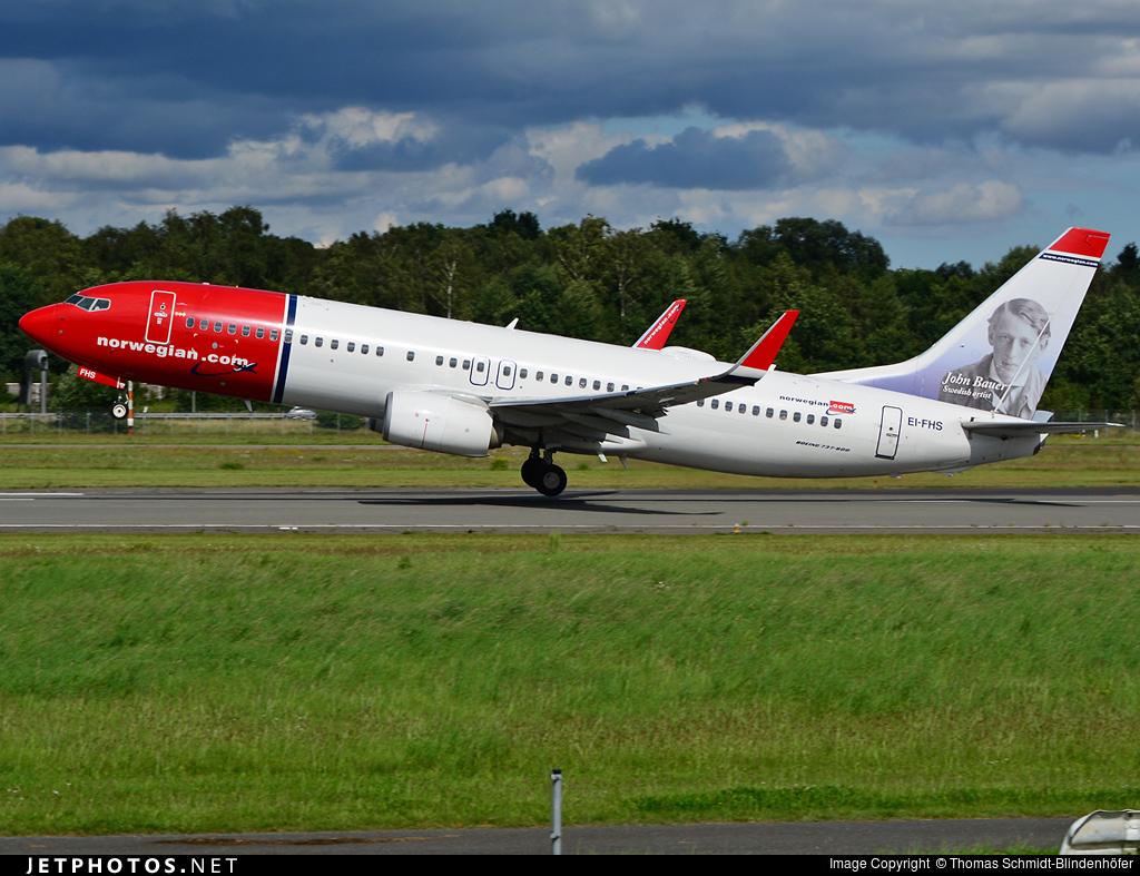 EI-FHS - Boeing 737-8JP - Norwegian