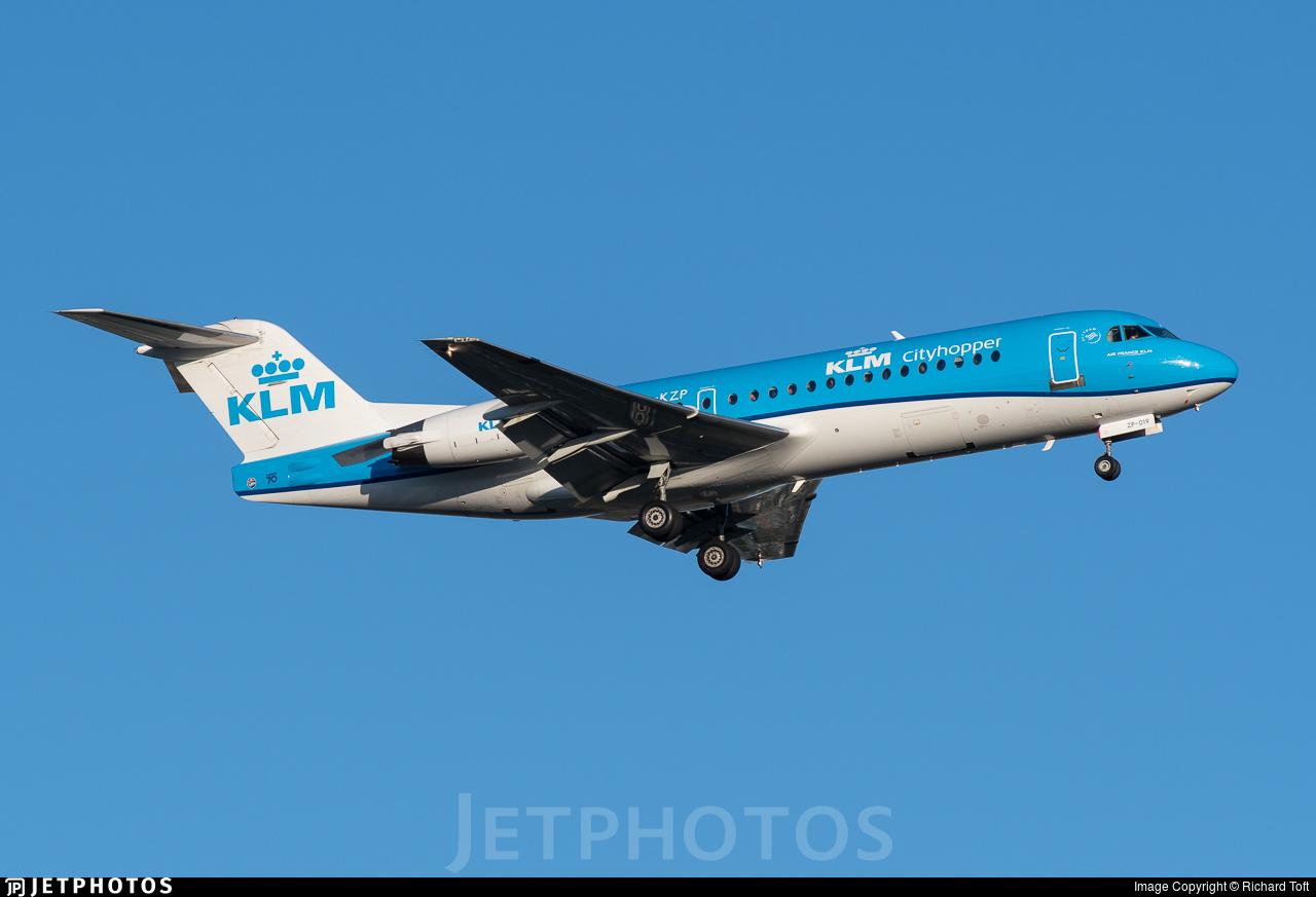 PH-KZP - Fokker 70 - KLM Cityhopper