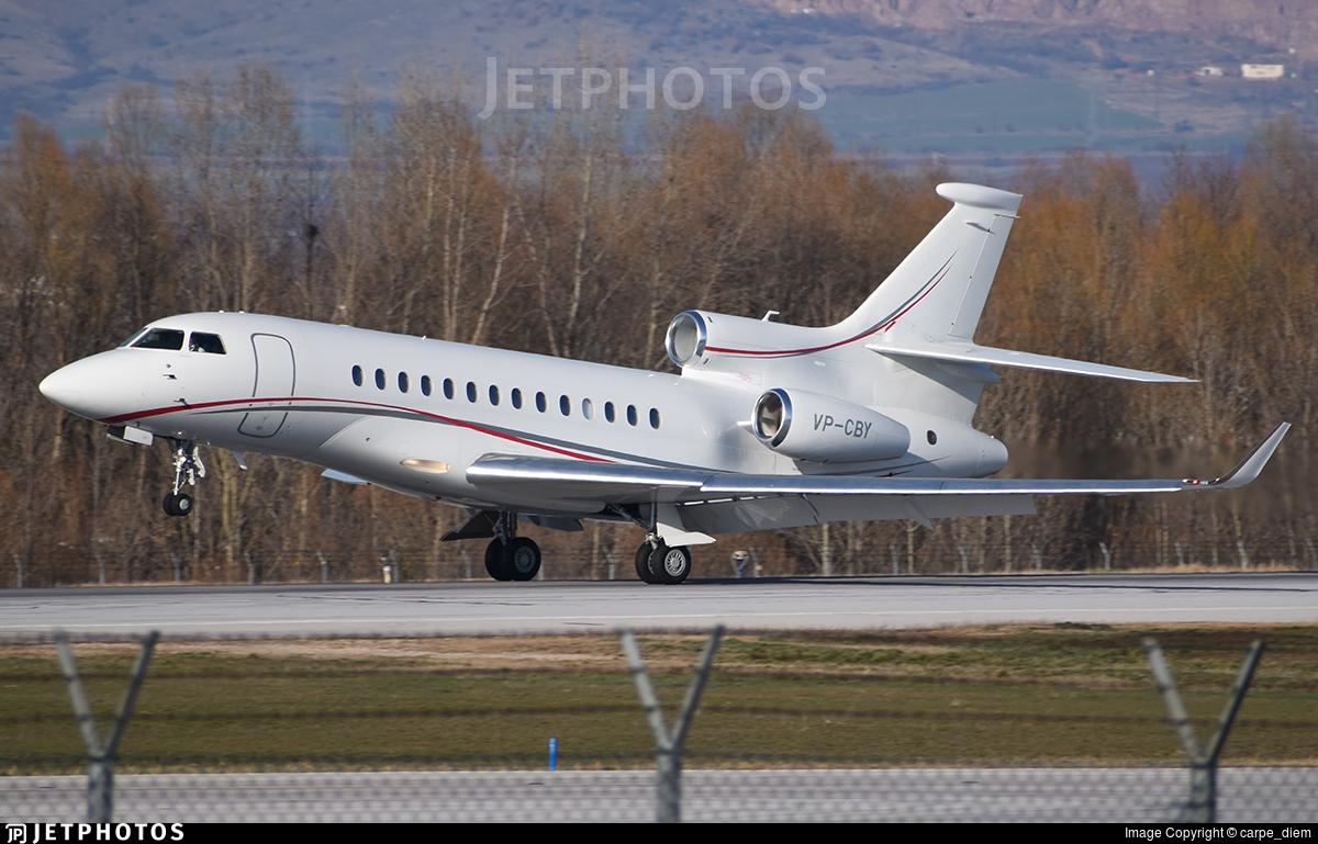 VP-CBY - Dassault Falcon 7X - Private