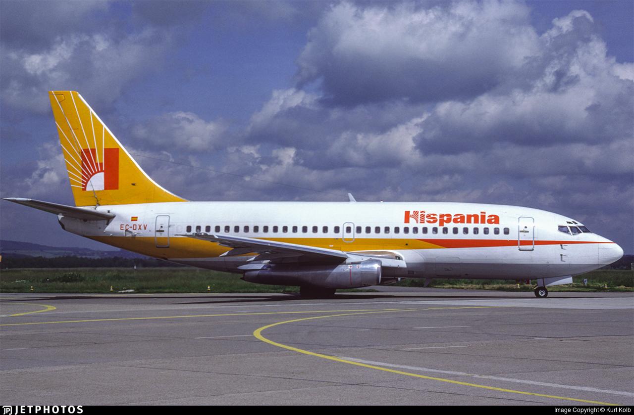 EC-DXV - Boeing 737-2L9(Adv) - Hispania Líneas Aéreas