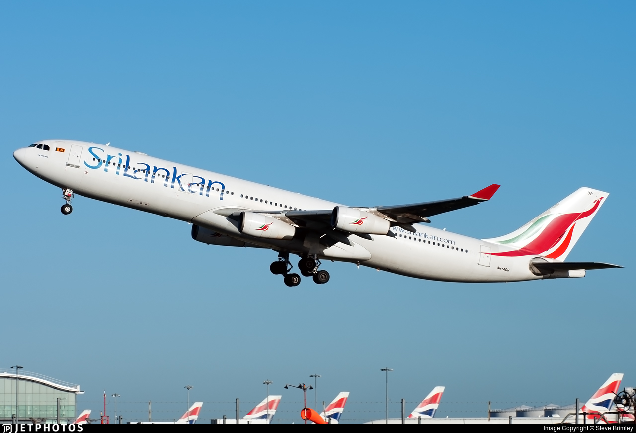 4R-ADB - Airbus A340-311 - SriLankan Airlines