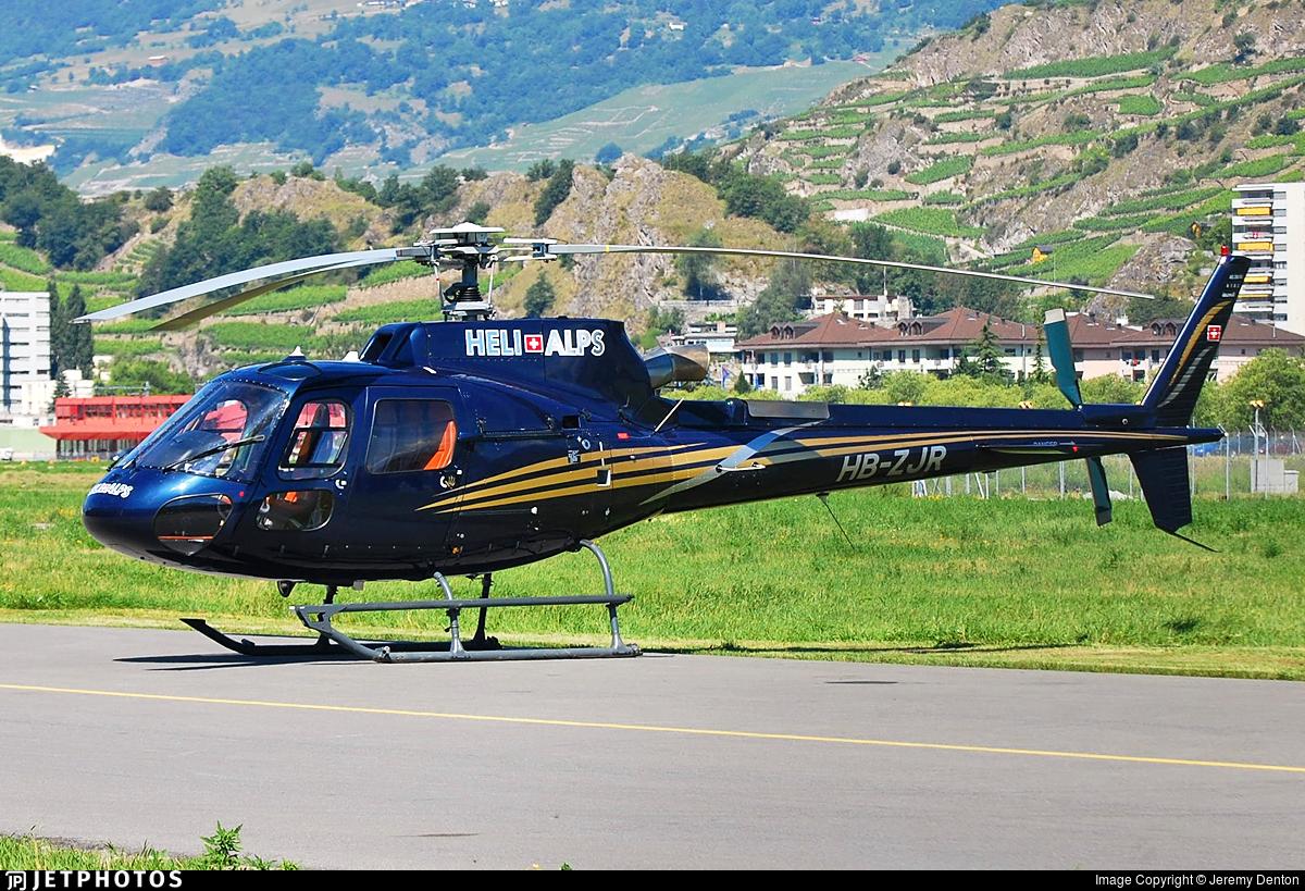 HB-ZJR - Aérospatiale AS 350B3 Ecureuil - Heli Alps
