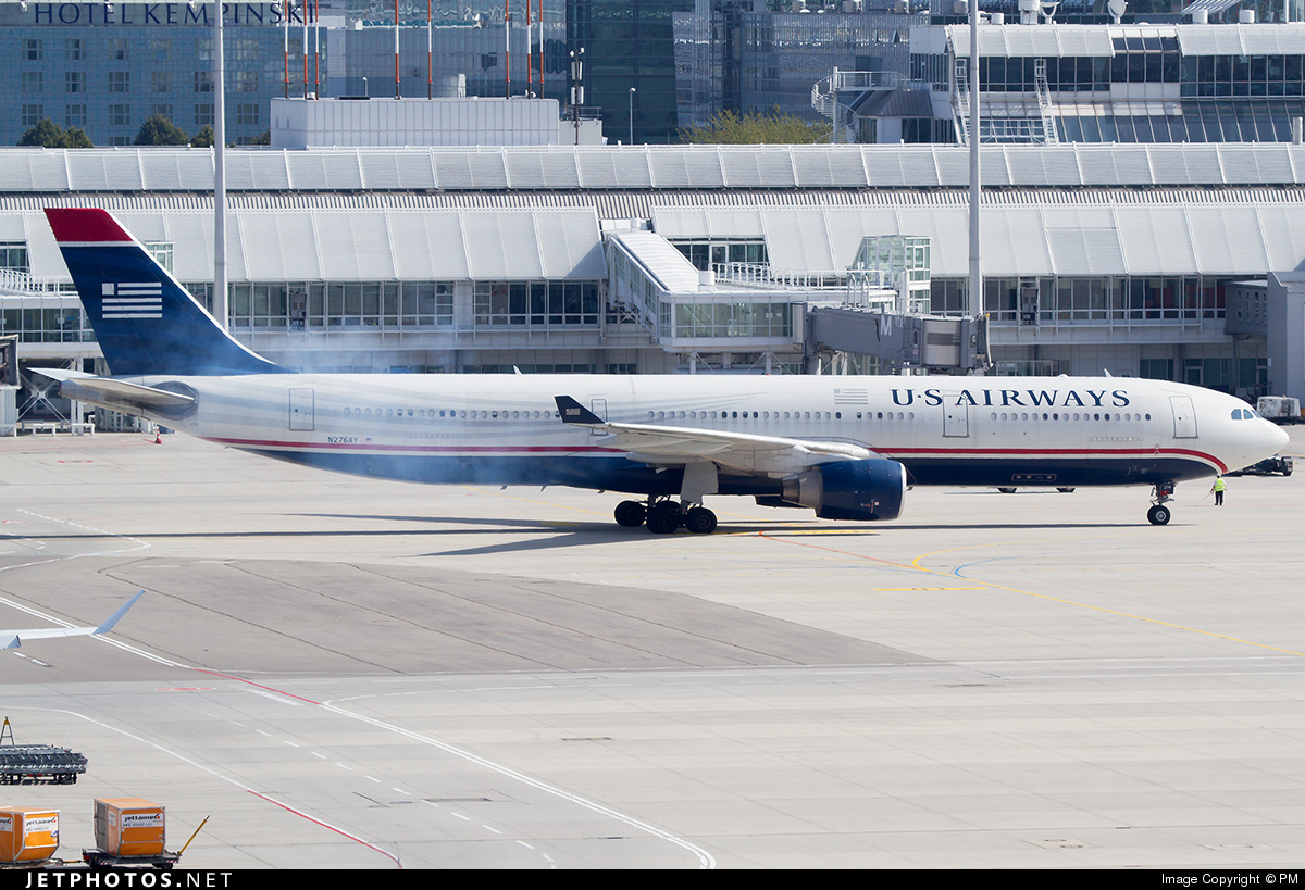 N276AY - Airbus A330-323 - US Airways